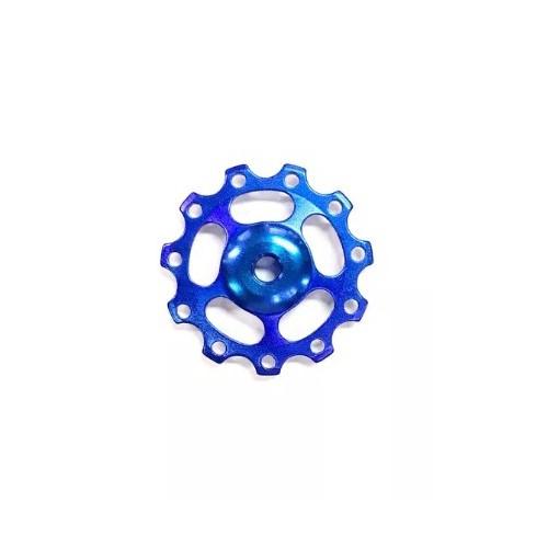 Roldana Cambio Aluminio Com Rolamento Azul